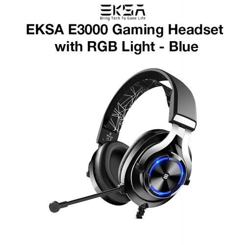 EKSA E3000 Gaming Headset with RGB Light - Blue