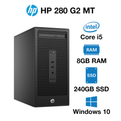 HP 280 G2 MT Core i5 | 8GB | 240GB SSD | Windows 10 Pro