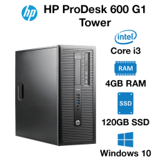HP ProDesk 600 G1 Tower Core i3 | 4GB RAM | 120GB SSD | Windows 10 Pro