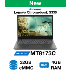 Lenovo Chromebook S330 Mediatek MT8173C | 4GB RAM | 32GB eMMC | Webcam (New)