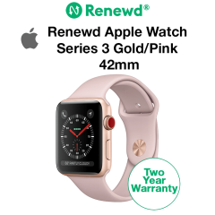 Renewd Apple Watch Series 3 Gold/Pink 42mm