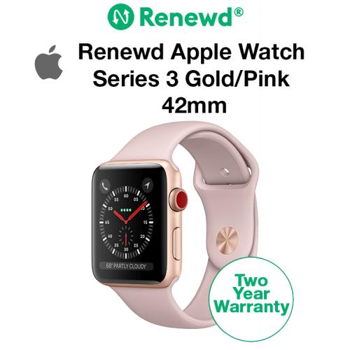 Renewd Apple Watch Series 3 Gold/Pink 42mm