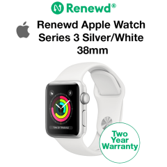 Renewd Apple Watch Series 3 Silver/White 38mm