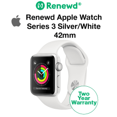Renewd Apple Watch Series 3 Silver/White 42mm
