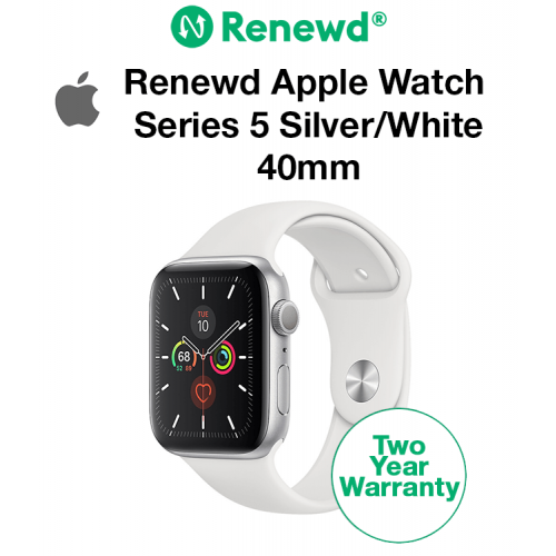 Renewd Apple Watch Series 5 Silver/White 40mm