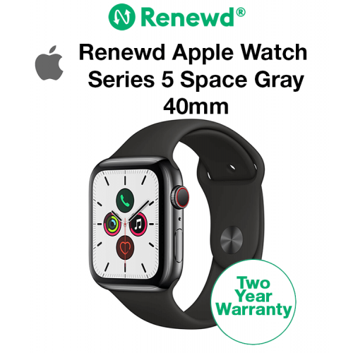 Renewd Apple Watch Series 5 Space Gray/Black 40mm