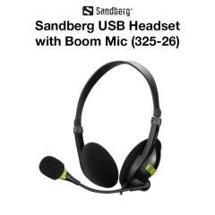 Sandberg - USB Headset with Boom Mic (325-26)