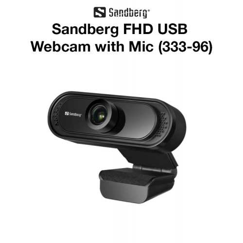 Sandberg - FHD USB Webcam with Mic (333-96)