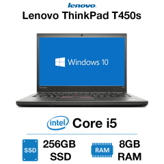 Lenovo ThinkPad T450s Core i5 | 8GB RAM | 256GB SSD | Webcam