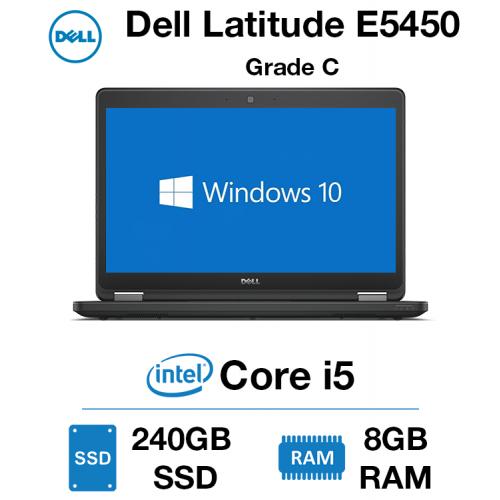 Dell Latitude E5450 Core i5   8GB RAM   240GB SSD   Webcam Grade C - GIT04