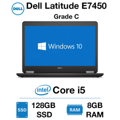 Dell Latitude E7450 Core i5 | 8GB RAM | 128GB SSD | Webcam Grade C – GIT01