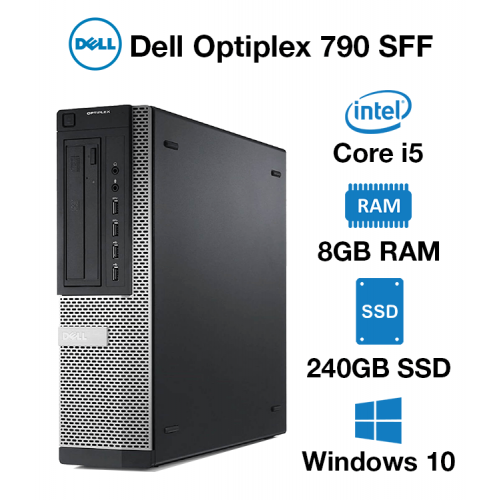 Dell Optiplex 790 SFF Core i5   8GB RAM   240GB SSD   DVD