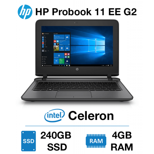 HP Probook 11 EE G2 Celeron   4GB RAM   240GB SSD   Webcam