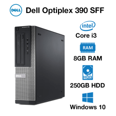 Dell Optiplex 390 SFF Core i3 | 8GB | 250GB HDD | Windows 10 Pro